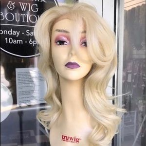 Accessories - Blonde fulllace full lace curly blonde wig 2019